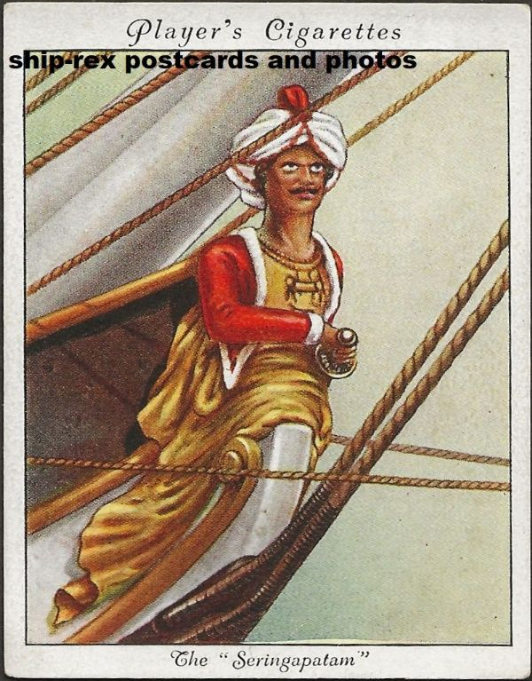 SERINGAPATAM (East India Co) figurehead, cigarette card